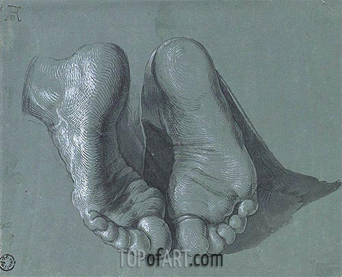 Study of Two Feet, c.1508 | Durer | Painting Reproduction