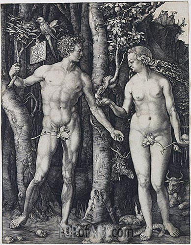 Adam and Eve, 1504 | Durer | Gemälde Reproduktion