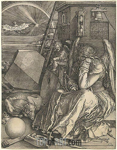 Melencolia I, 1514 | Durer | Painting Reproduction