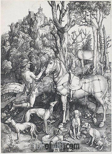 Saint Eustace, c.1500/01 | Durer | Painting Reproduction