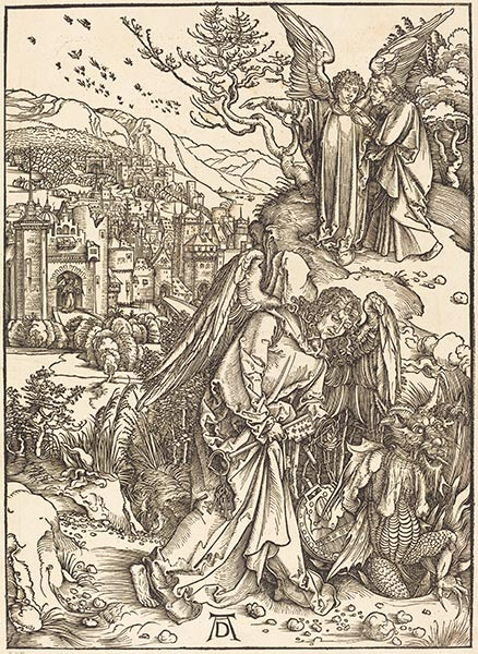 The Angel with the Key to the Bottomless Pit, 1498 | Durer | Painting Reproduction