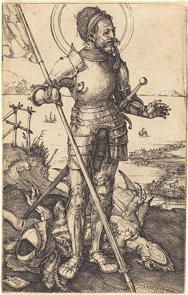 Saint George Standing, c.1507/08 | Durer | Painting Reproduction