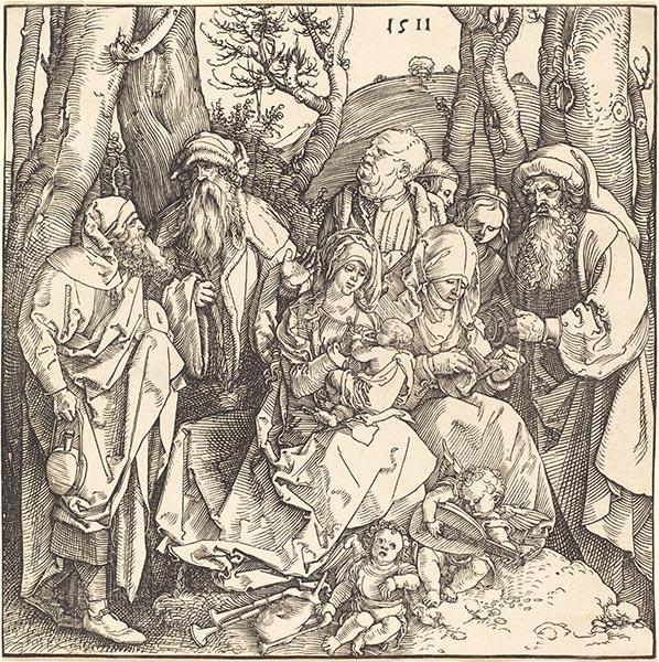 The Holy Family with Two Music-Making Angels, 1511 | Durer | Painting Reproduction