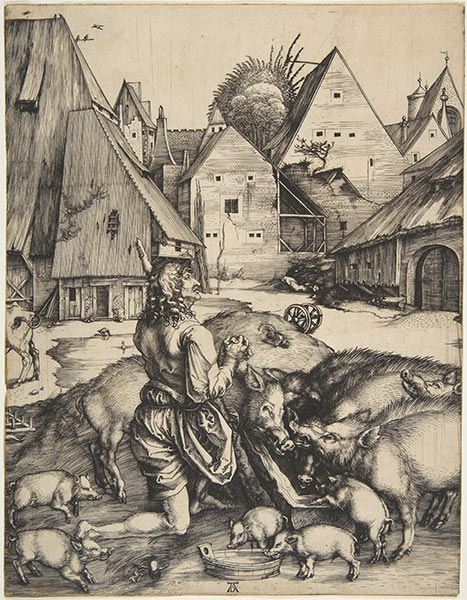 The Prodigal Son, c.1496 | Durer | Painting Reproduction