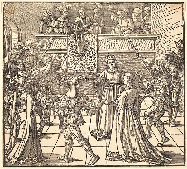 Masquerade Dance with Torches, c.1516 | Durer | Painting Reproduction