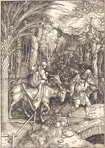 The Flight into Egypt, c.1504 | Durer | Painting Reproduction