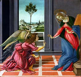 The Cestello Annunciation | Botticelli | Painting Reproduction