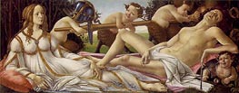 Venus and Mars, c.1485 by Botticelli | Painting Reproduction