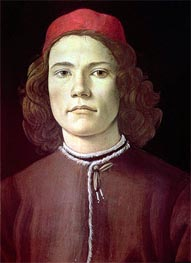 Portrait of a Young Man, c.1480/85 von Botticelli | Gemälde-Reproduktion
