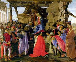 The Adoration of the Magi, c.1476 by Botticelli | Painting Reproduction