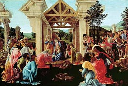 The Adoration of the Magi, c.1478/82 von Botticelli | Gemälde-Reproduktion