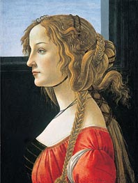 Portrait of a Young Woman, after 1480 von Botticelli | Gemälde-Reproduktion