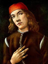 Portrait of a Youth, early 1480 by Botticelli | Painting Reproduction