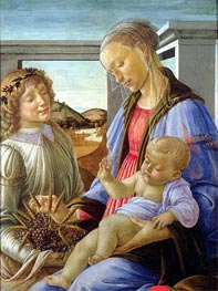 Madonna and Child with Angel | Botticelli | Gemälde Reproduktion