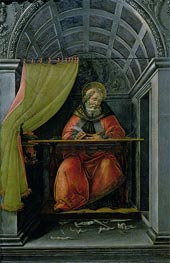 Saint Augustine in his Cell, 1490 by Botticelli | Painting Reproduction
