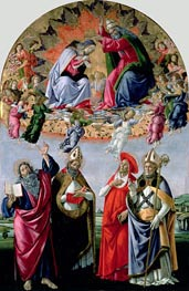 The Coronation of the Virgin (Altarpiece of St Mark), c.1480 von Botticelli | Gemälde-Reproduktion