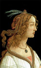 Portrait of a Young Woman, 1485 by Botticelli | Painting Reproduction