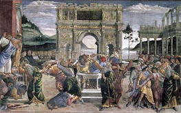 The Punishment of Korah, Dathan and Abiram | Botticelli | Gemälde Reproduktion