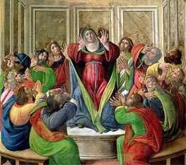 The Descent of the Holy Ghost | Botticelli | Gemälde Reproduktion