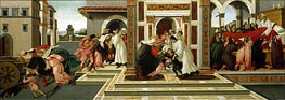 Four Scenes from the Life of St. Zenobius, c.1500 by Botticelli | Painting Reproduction