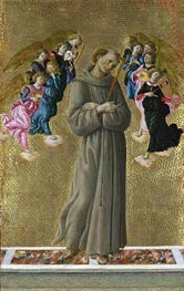 Saint Francis of Assisi with Angels, c.1475/80 by Botticelli | Painting Reproduction