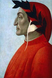Portrait of Dante, undated von Botticelli | Gemälde-Reproduktion