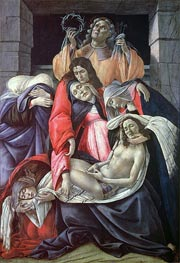 Lamentation over the Dead Christ, c.1490/00 von Botticelli | Gemälde-Reproduktion