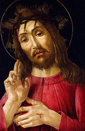 The Resurrected Christ, c.1480 von Botticelli | Gemälde-Reproduktion