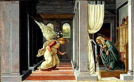 The Annunciation, c.1485 von Botticelli | Gemälde-Reproduktion