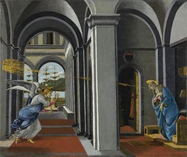 The Anunciation, c.1493 von Botticelli | Gemälde-Reproduktion