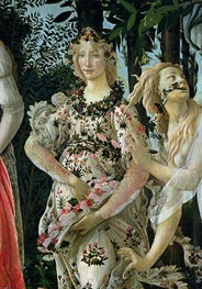 Detail of Flora as the Hour of Spring, from the Primavera, c.1482 von Botticelli | Gemälde-Reproduktion