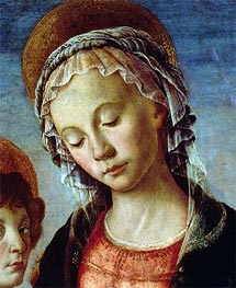 Madonna and Child (Detail), c.1470 von Botticelli | Gemälde-Reproduktion