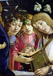 Madonna and Child with the Young St. John the Baptist and Angels (Detail), Undated von Botticelli | Gemälde-Reproduktion