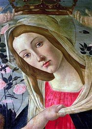 Madonna and Child Crowned by Angels (Detail), Undated von Botticelli | Gemälde-Reproduktion