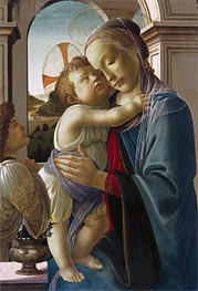 Virgin and Child with an Angel | Botticelli | Painting Reproduction