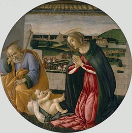 The Adoration of the Child, c.1500 by Botticelli | Painting Reproduction