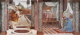 Annunciation, Undated by Botticelli | Painting Reproduction