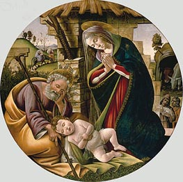 Adoration of the Christ Child, c.1500 by Botticelli | Painting Reproduction