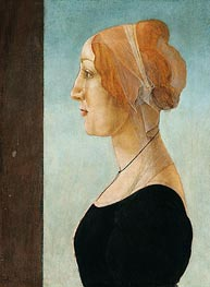 Portrait of a Lady, Undated by Botticelli | Painting Reproduction