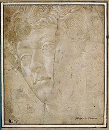 Head of an Angel, Undated by Botticelli | Painting Reproduction