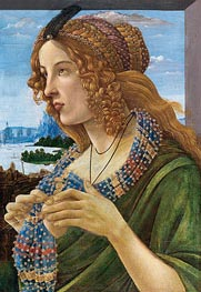 Allegorical Portrait of a Woman (Simonetta Vespucci), Undated by Botticelli | Painting Reproduction