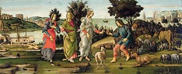 The Judgement of Paris, Undated by Botticelli | Painting Reproduction