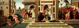 Four Scenes from the Early Life of Saint Zenobius  from Two Spalliera Panels, c.1500 by Botticelli | Painting Reproduction
