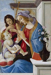 Virgin and Child with Saint John the Baptist, c.1500 by Botticelli | Painting Reproduction