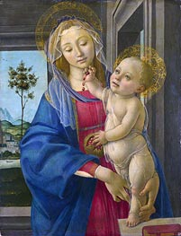 The Virgin and Child with a Pomegranate | Botticelli | Painting Reproduction