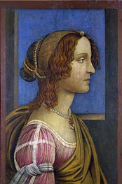 A Lady in Profile | Botticelli | Painting Reproduction