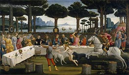 The Story of Nastagio degli Onesti, c.1483 by Botticelli | Painting Reproduction
