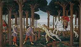 The Story of Nastagio degli Onesti I, c.1483 by Botticelli | Painting Reproduction