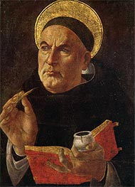 St. Thomas Aquinas | Botticelli | Painting Reproduction