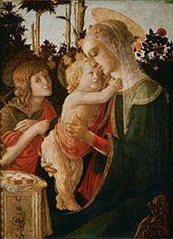 Madonna and Child with the Young St. John the Baptist, c.1468 by Botticelli | Painting Reproduction